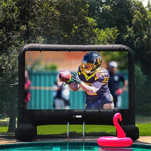 3. VIVOHOME 14ft Indoor and Outdoor Inflatable Blow up Mega Movie projection Screen
