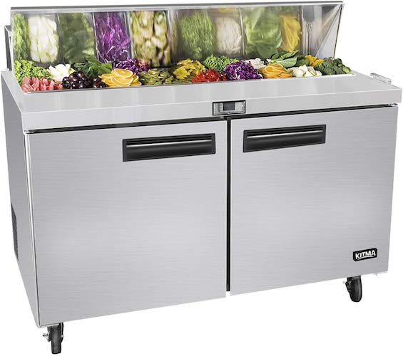 1. 48 Inches Sandwich Salad Prep Table Refrigerator - by Kitma