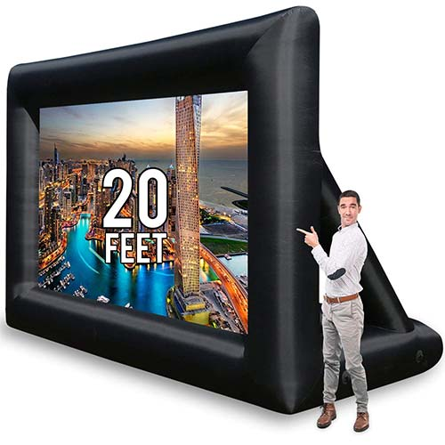 9. Jumbo 20 Feet Inflatable Outdoor and Indoor Theater Projector Screen