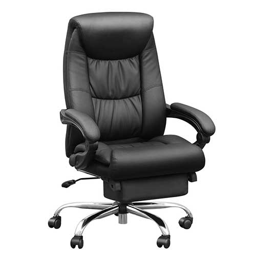 2. Duramont Reclining Office Chair with Lumbar Support - High Back Executive Chair - Thick Seat Cushion - Ergonomic Adjustable Seat Height and Back Recline - Desk and Task Chair