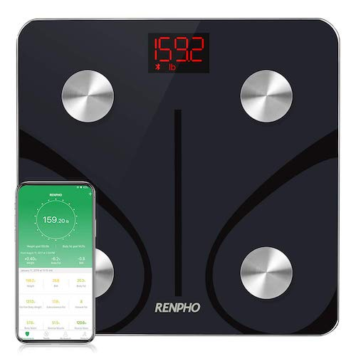 7. RENPHO Bluetooth Body Fat Scale, Weight Scale Digital Bathroom Smart Body Composition Analyzer Wireless BMI Scale Health Monitor with Smartphone APP, 396 lbs/180kg