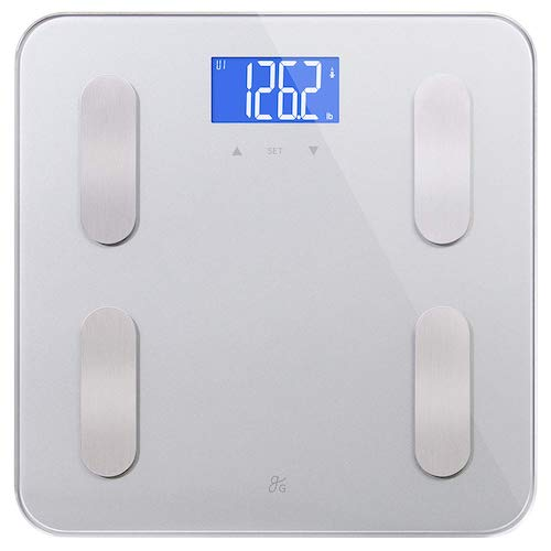 3. GreaterGoods Digital Body Fat Weight Scale, Body Composition, BMI, Muscle Mass & Water Weight