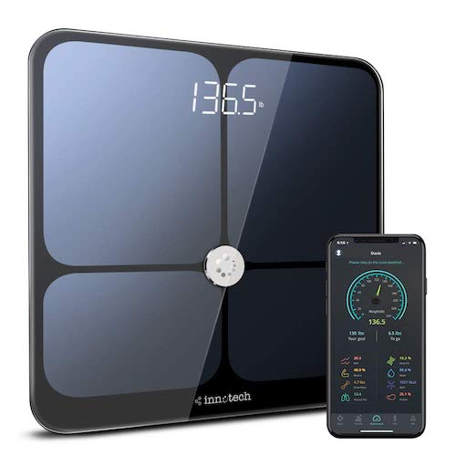 5. Innotech Smart Bluetooth Body Fat Scale Digital Bathroom Weight Weighing Scales Body Composition BMI Analyzer & Health Monitor with Free APP, Compatible with Fitbit, Apple Health & Google Fit