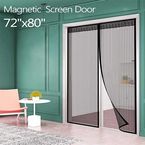 10. Magnetic Screen Door for French door (72