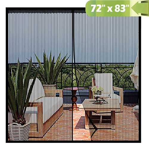 5. Magnetic Screen Door 72x 83 Inch,Heavy Duty Mesh Curtain Snap Shut Automatically