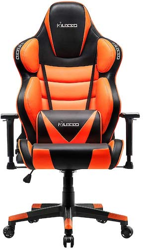 1. Musso Big & Tall (Orange) Gaming Chair Adults Racing Computer Gamer Chair