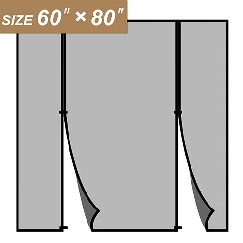 4. Magnetic Screen Door 60 x 80, Double Door Screen Curtain