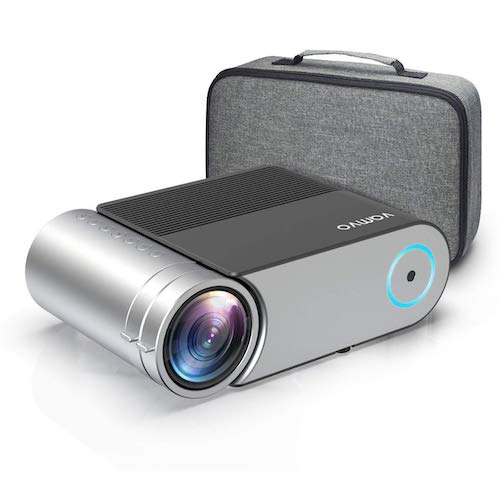 "9. Mini Projector, Vamvo L4200 Portable Video Projector, Full HD 1080P 200"" Display Supported; Outdoor Movie Projector 3800 Lux"