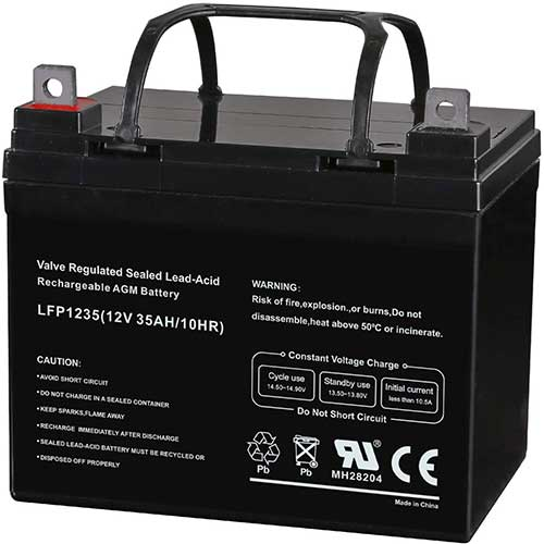 1. Weize 12V 35AH Rechargeable SLA Deep Cycle AGM Battery