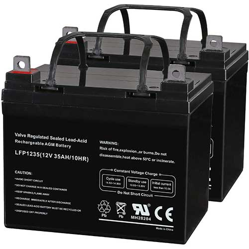 3. Weize 12V 35AH Deep Cycle Battery
