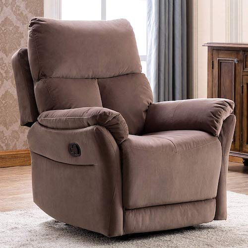8. ANJ Manual Recliner, Living Room Reclining Chair Soft