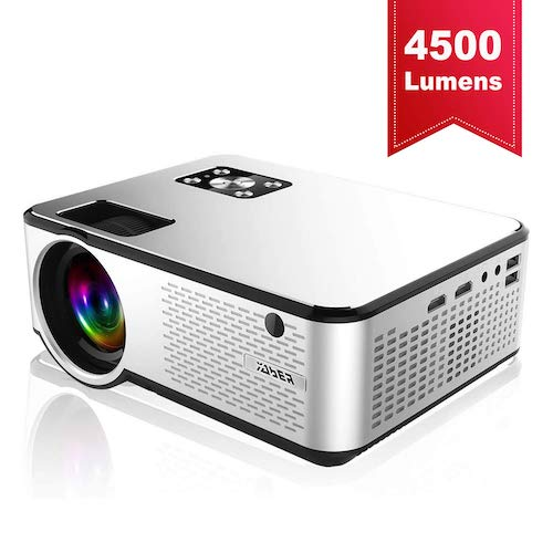 10. YABER Portable Projector with 4500 Lumen Full HD 1080P 200
