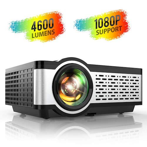 7. Projector, TOPTRO Updated 4600 Lumens Video Projectors