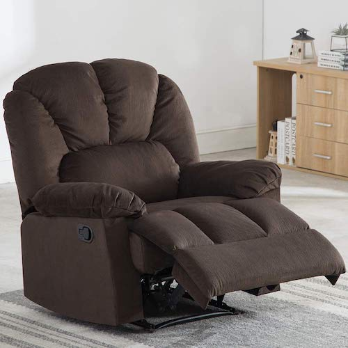 10. Fabric Recliner Chair, Bonzy Home Self-adjusting the Backrest and Footrest, Living Room Chair