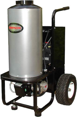 3. SIMPSON MB1518 1500 PSI at 1.8 GPM Diesel Fired Hot Water Pressure Washer