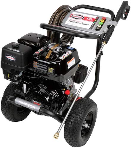 5. SIMPSON Cleaning PS4240 PowerShot Gas Pressure Washer Powered by Honda GX390, 4200 PSI at 4.0 GPM