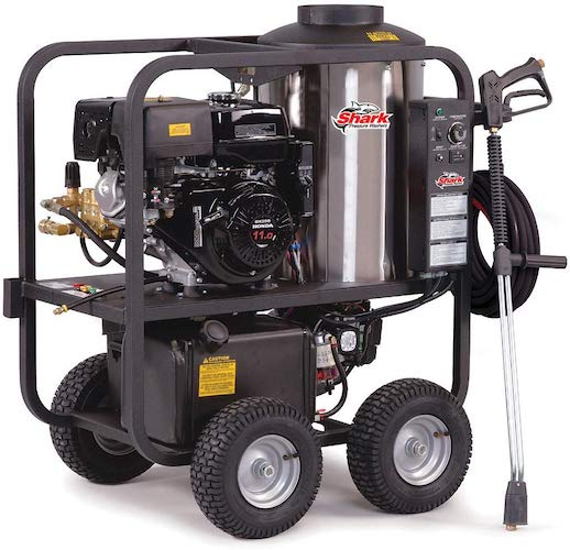 1. Shark SGP-353037 3,000 PSI 3.5 GPM Honda Gas Powered Hot Water Commercial Series Pressure Washer