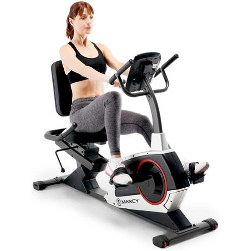 2. Marcy Regenerating Recumbent Exercise Bike
