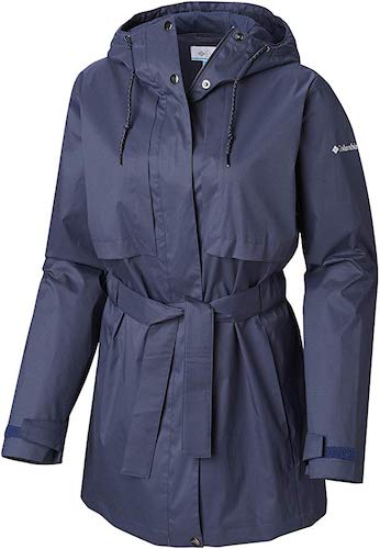 10. Columbia Women's Pardon My Trench Rain Jacket, Breathable, Lightweight