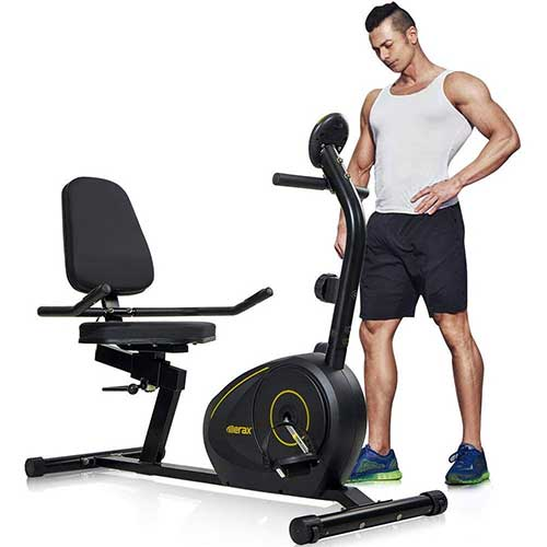 6. Merax Magnetic Recumbent Exercise Bike