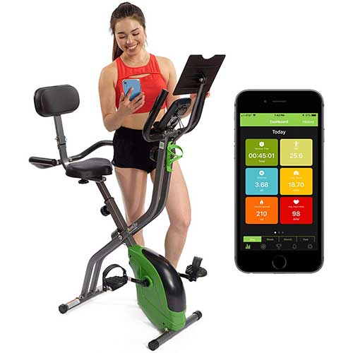8. SNODE Magnetic Recumbent Exercise Bike, Indoor Home Training Machine