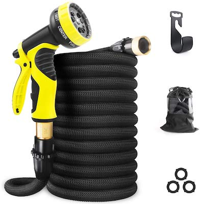 4. Aterod Expandable Garden Hose, 50ft Strongest Flexible Water Hose, 9 Functions Sprayer
