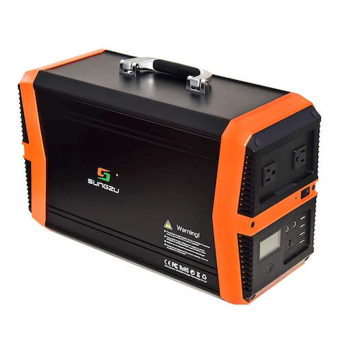 2. Sungzu Portable Power Station Portable Solar Generator