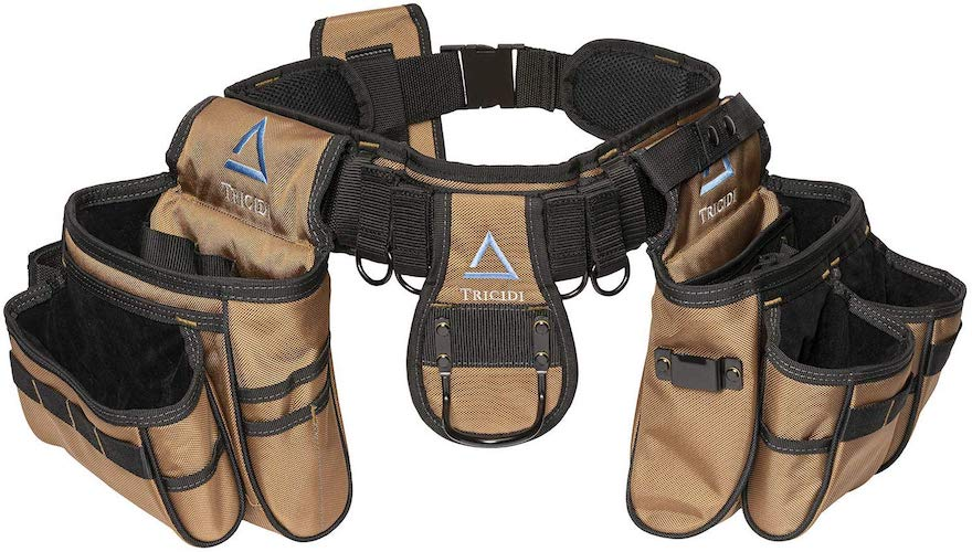 7. Tricidi - Coyote Brown Heavy-Duty Tool Belt - Tactical Work Organizer