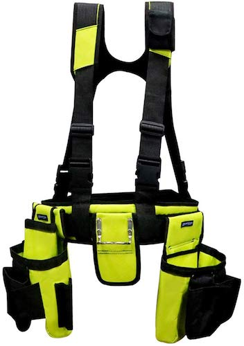 8. BHTOP Tool Belt Bag, Combo Apron Tool Bags and Suspenders