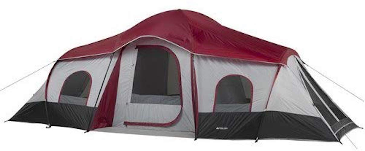 6. Ozark Trail 10-Person 3-Room XL Family Cabin Tent