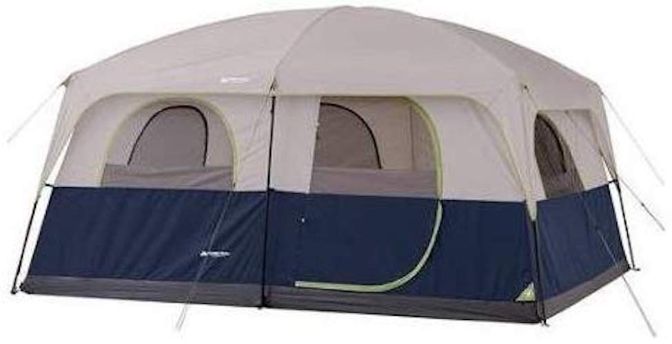 10. Ozark Trail 10 Person 2 Room Straight Wall Family Cabin Tent