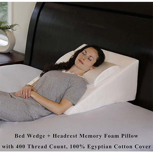 9. InteVision Foam Bed Wedge Pillow