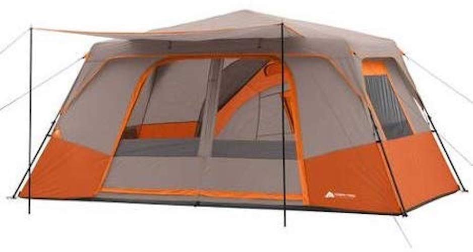 1. Ozark Trail 11 Person 3 Room 14' x 14' Instant Cabin Tent (Orange)