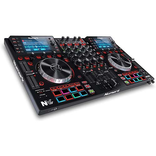 7. Numark NV II | Professional DJ Controller for Serato DJ (Included) With Dual High Resolution Displays