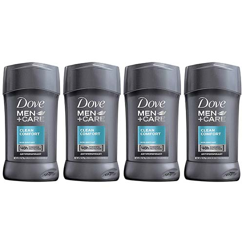 10. Dove Men+Care Antiperspirant Deodorant Stick, Clean Comfort 48 Hour Protection,