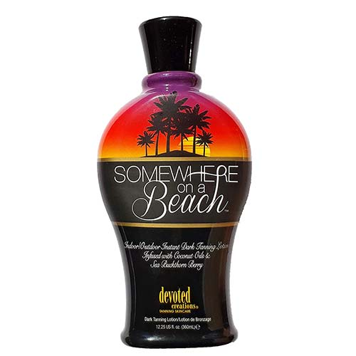 3. Somewhere on a Beach, Indoor Outdoor, Instant Dark Tanning Lotion 12.25 Ounce