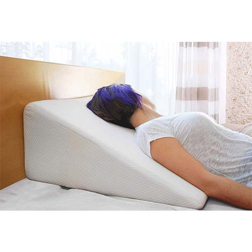 3. Cushy Form Bed Wedge Pillow