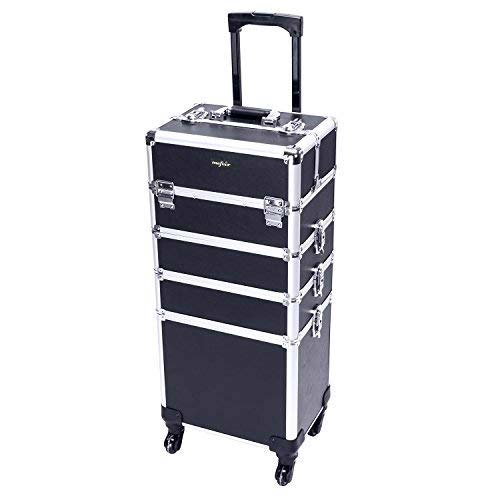 9. Mefeir 4-in-1 Rolling Makeup Train Case