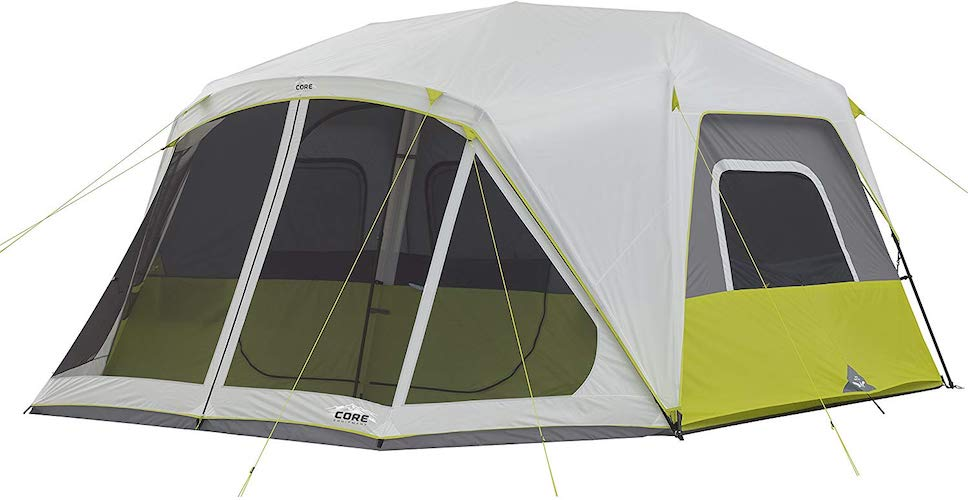 4. CORE 10 Person Instant Cabin Tent with Screen Room - 14.5' x 14'