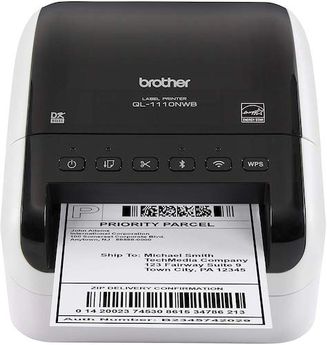 1. Brother QL-1110NWB Wide Format, Postage and Barcode Professional Thermal Label Printer