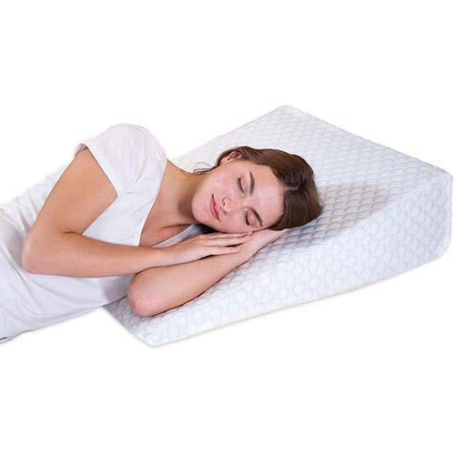 2. Bed Wedge Pillow with 1.5 Inch Memory Foam Top