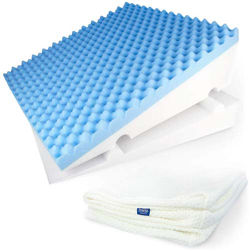 8. LUXELIFT Support Therapy Bed Wedge Pillow