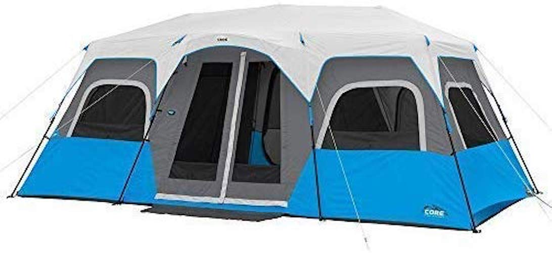 3. CORE Lighted 12 Person Instant Cabin Tent - 18' x 10'