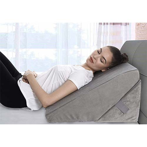 7. Bed Wedge Pillow - Adjustable 9&12 Inch Folding Memory Foam Incline Cushion System for Legs and Back Support Pillow