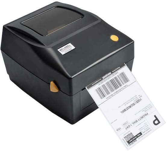 9. MFLABEL Label Printer, 4x6 Thermal Printer, Commercial Direct Thermal High Speed USB Port Label Maker Machine