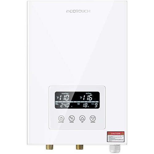 3. Tankless Water Heater Electric ECOTOUCH 9KW 240V On Demand Water Heater