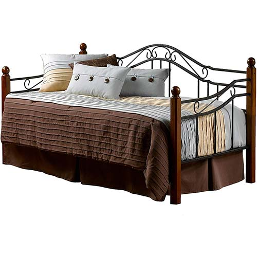 4. Hillsdale Furniture Hillsdale Madison Daybed, Twin, Black/Cherry