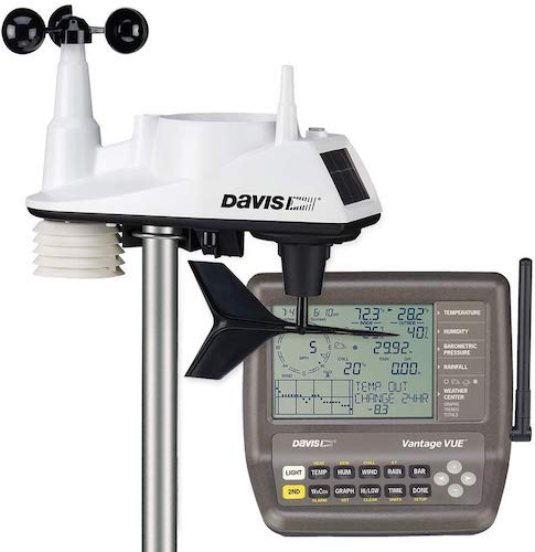 5. Davis Instruments 6250 Vantage Vue Wireless Weather Station with LCD Console