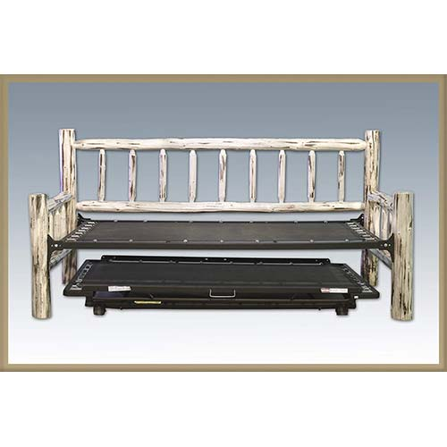 9. Montana Woodworks Collection Day Bed with Pop up Trundle, Ready to Finish