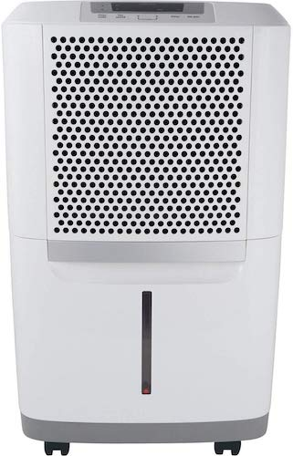 5. Frigidaire High 70 Pints-Per-Day Portable Dehumidifier with SpaceWise Design for Effective and Efficient Moisture Control, FAD704NWD, fit for use in any damp spaces in the home, White